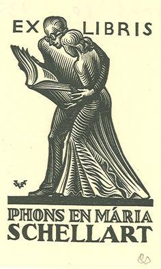 Ex-Libris SCHELLART (Phons & Maria)-LE CAMPION (Valentin)