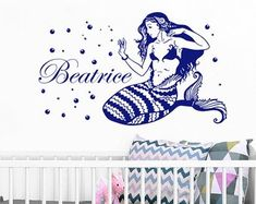 Wall Vinyl Decal, Wall Murals, Quote Stickers, Nursery by BartiWallDecals Name Wall Decals, Vinyl Wall Decals, Wall Murals, Etsy Seller, Nursery, Quote, Stickers, Creative, Wallpaper Murals