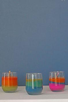 Diy driekleurenkaarsen maken | Allihoppa