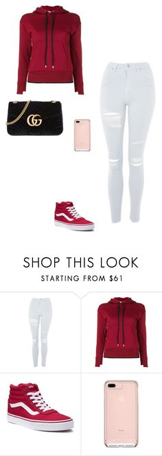 """""""lejla"""" by minablhoo on Polyvore featuring Topshop, Helmut Lang, Vans and Gucci"""