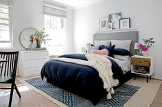 5 Fantastic Blush, Blue, and Gray Spaces - The Accent™ More