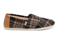 Channel your inner lumberjack in black plaid Classics for the holidays. Here's to finding the perfect tree. A limited edition shoe, only available at TOMS.