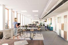 Drottninggatan, Flexible Office, Stockholm Interior design, Scandinavian design, 3D visualisation, render, archviz, 3Ds Max, modern design