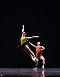 PNB's Carrie Imler & Jonathan Porretta in 'The Vertiginous Thrill of Exactitude'