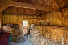 Horse Barn Interior Hay Storage Sandcreekpostandbeam