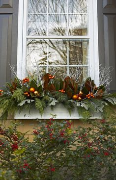 20 Beautiful Winter Planters Ideas To Inspire You - . 20 Beautiful Winter Planters Ideas To Inspire You - - Christmas Window Boxes, Winter Window Boxes, Christmas Urns, Christmas Planters, Outdoor Christmas Decorations, Christmas Holidays, Christmas Wreaths, Holiday Decor, Xmas