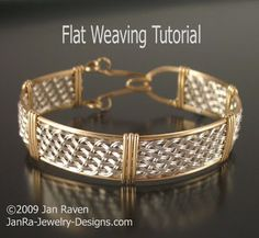 Woven Wire Jewelry and Other Creative Endeavors: Flat weaving with wire-- no tutorial available