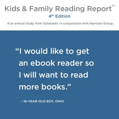 Check out this quote from a kid, featured in our Kids & Family Reading Report.