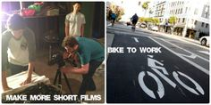 Ryan's resolutions are to make more short films and to bike to work.