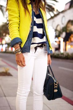 Stripes - Denim - Bright Knit