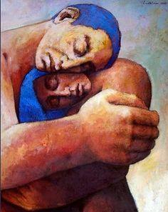 Erhard Löblein - Born in 1932 Love Painting, Figure Painting, Painting & Drawing, Pablo Picasso, Couple Art, Portrait Art, Figurative Art, Love Art, Contemporary Art