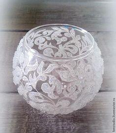 Морозный узор на вазе - Ярмарка Мастеров - ручная работа, handmade