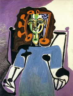 Pablo Picasso - Françoise Sitting in a Blue Robe, 1949