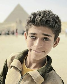 Egyptian boy - Photo by Dilan Bozyel. So expressive eyes...