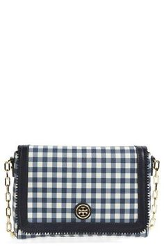 Gingham Print Crossbody Bag