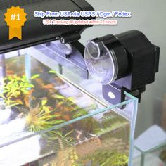 Automatic-Fish-Tank-Food-Feeder-Pond-Aquarium-Feeding-Timer-Digital-Auto-New-US