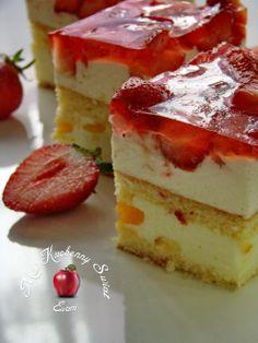 Mój kuchenny Świat: Ciasto z truskawkami