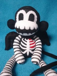 Valentine's Day Cherub Skeleton Sock Monkey - CraftStylish So cute!