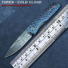 Like and Share if you want this  Damascus Folding Knife - Turen Cold Cloud 5.5cm Folding Knife Damascus Merchant    Buy Now at DamascusMerchant.com - FREE Shipping Worldwide    Damascus Folding Knife - Turen Cold Cloud 5.5cm Folding Knife Damascus Merchant