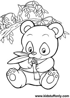 pics for panda bear coloring pages