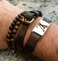 bracelet keep it via louis vuitton j 39 adore pinterest bijoux masculins bracelets pour. Black Bedroom Furniture Sets. Home Design Ideas