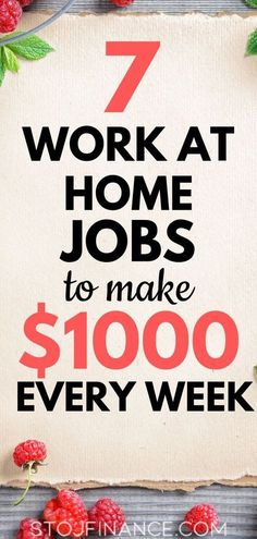 Here are 7 great high-paying work from home jobs to help you make money from home today! #workfromhomejobs #workfromhome #makemoneyfromhome