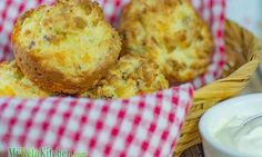 Low Carb Bacon and Sour Cream Muffins