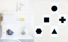 geometric postcard set by Riikka
