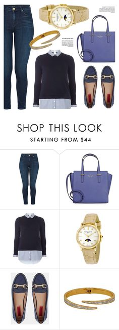 """Everyday Look"" by jomashop ❤ liked on Polyvore featuring J Brand, Kate Spade, Dorothy Perkins, Frédérique Constant, London Rebel and Blue"