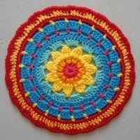 Crochet Mandala Wheel made by Lucie, West Yorkshire, UK, for yarndale.co.uk
