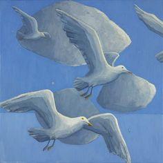 Scott Redden : Paintings : : Four Gulls Gulls, Rock, Illustration, Paintings, Art, Paint, Art Background, Skirt, Painting Art