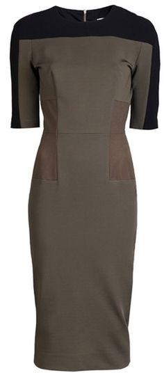 VICTORIA BECKHAM Short Sleeve Dress