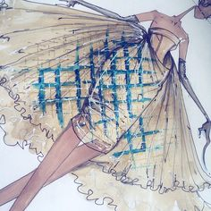 FORGET Selfies of Selfies, this is an illustration of a dress inspired by Illustration. Now THAT'S meta. - Christian Dior Spring 2011 Haute Couture, inspired by legendary fashion illustrator, #RenéGruau, by @jgalliano. #Galliano #Dior