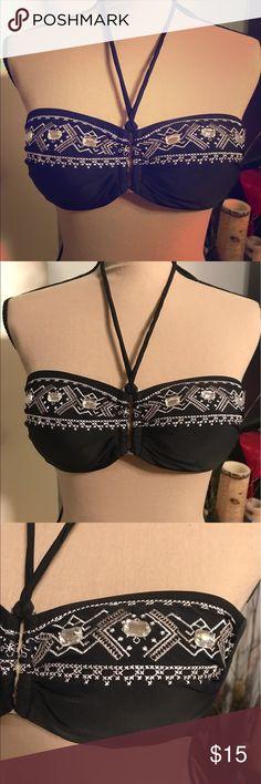 Venus Rhinestone bandeau Bikini Top Great condition, Venus Swimsuit Top cup size c VENUS Swim Bikinis