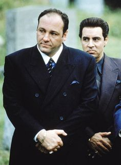 James Gandolfini (Tony Soprano) and Steven van Zandt (Silvio Dante) in The Sopranos