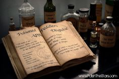 How to make a homemade book look aged. Great idea to make a spell or potion book!