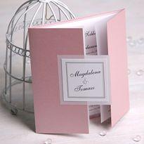 Zaproszenie ślubne z kolekcji subtelnej - perłowy róż