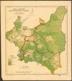 Poland Map, Old Maps, Historical Maps, Family History, Vintage World Maps, Landscape, Prussia, Warsaw, Globes