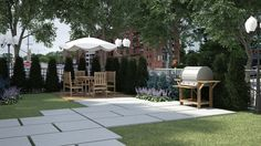 courtyard 3d rendering
