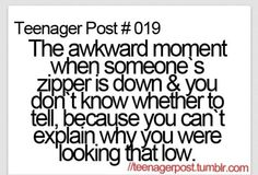 I do this all the time, I mean I only look down if I like them or if my eyes drift down...