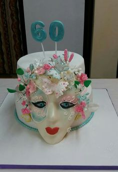 60th birthday cake, made by Colleen de Wet.