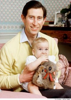 Two future kings: The Prince of Wales, Charles, heir to the English throne, and his son William, also heir to the throne.