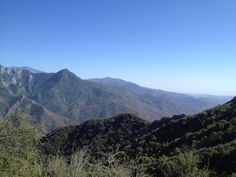 The descent as one nears the south gate of Sequoia National Park in California.