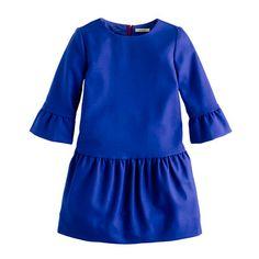 hthr graphite girls' wool flannel zip dress