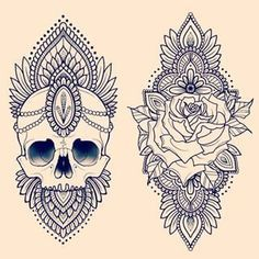 mandala rose tattoo - Google Search: