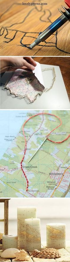Travel Map Themed DIY Projects.