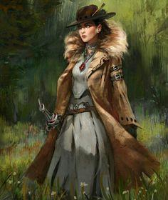 Female Human Investigator - Pathfinder PFRPG DND D&D d20 fantasy