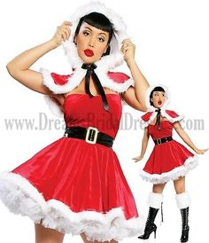 Sexy Christmas Costume Red Velvet Skater Dress In 4 Piece Set & Costumes > Costumes > Sexy Costumes > Sexy Christmas Costumes Costumes For Women, Teen Costumes, Funny Costumes, Strapless Mini Dress, Fancy Dress, Velvet Skater Dress, Sexy Lingerie, Christmas Lingerie