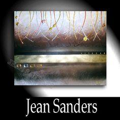 "Jean Sanders  ""CAPPUCCINO""  100x80cm  Material:  Acrylfarben, Schlussfirnis, Spachtelmasse"