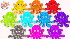 Learn Colors with Octopus Shapes for Children - Lollipops Color for Kids Toddlers Learning Colors, Lollipops, Coloring For Kids, Nursery Rhymes, Octopus, Toddlers, Kids Rugs, Shapes, Marketing